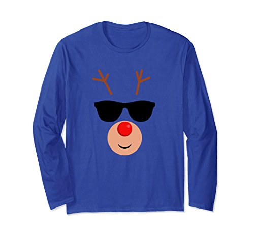 Unisex Rudolph Reindeer Emoji Sunglasses Long Sleeve Shirt Small Royal - Rudolph Sunglasses