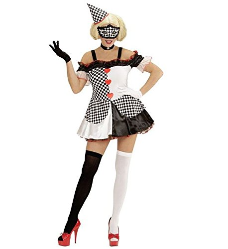Halloween Clown Girl Outfit.Amazon Com Ladies Pierrot Girl Costume For Scary Clown