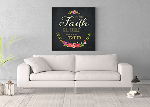 She Had Faith Printed on 36x36 Canvas Wall Art by Pennylane by ImagesPrinted