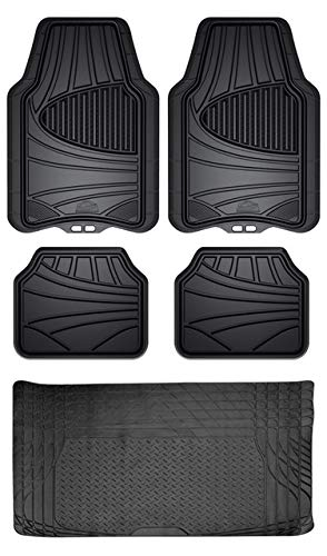 Custom Accessories Armor All 5-Piece Floor Mat Set with 6-Month Full Roadside Assistance Plan