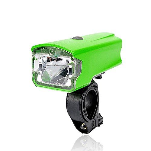 Leadbike USB Rechargeable Bicycle Headlight 5W Super Bright 4 Modes Bike Front Light Waterproof 220 Lumens Handlebar Lamp (Green)