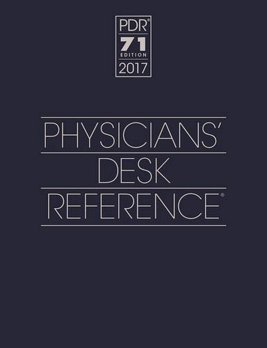 2017 Physicians' Desk Reference 71st Edition (Physicians' Desk Reference (Pdr))
