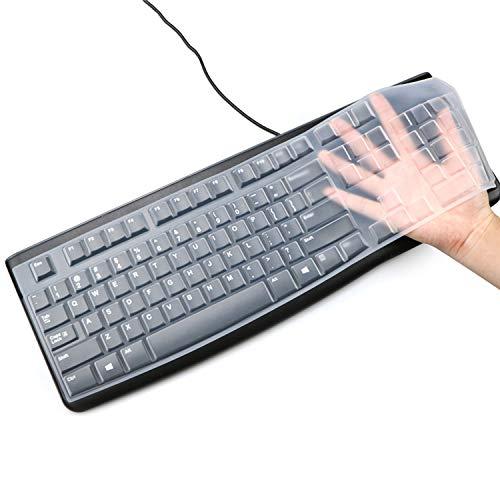 [해외]Masino Silicone Keyboard Cover for Logitech K120 & MK120 Ergonomic Desktop USB Wired Keyboard Ultra Thin Protective Skin (for Logitech MK120 K120 Clear) / Masino Silicone Keyboard Cover for Logitech K120 & MK120 Ergonomic Desktop U...
