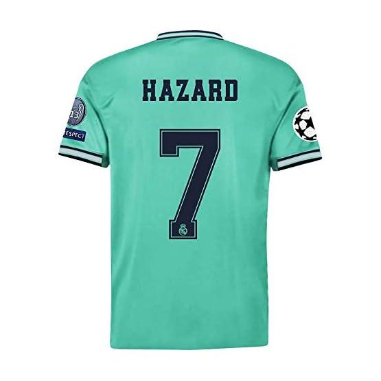 2019 Ensembles de Sport T-Shirt et Un Short, Maillot de Football Garçon #7 Manche Courte Suit de Football pour Les Fans de Football Maillot De Eden Hazard Adultes et Enfants