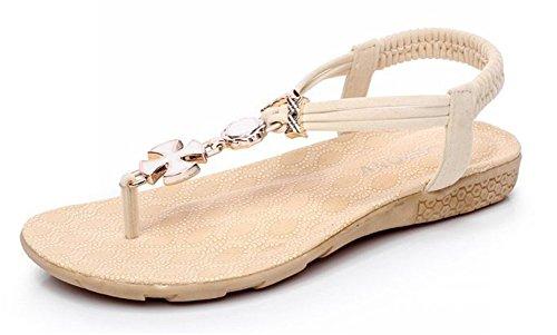 Plage JDS® de Sandales de de Loisirs étudiants Chaussures Fortuning's Bohemian Mode Blanc Plates wFTOqffI