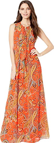 Juicy Couture Women's Rustic Paisley Maxi Dress Hazy Summer/Rustic Small