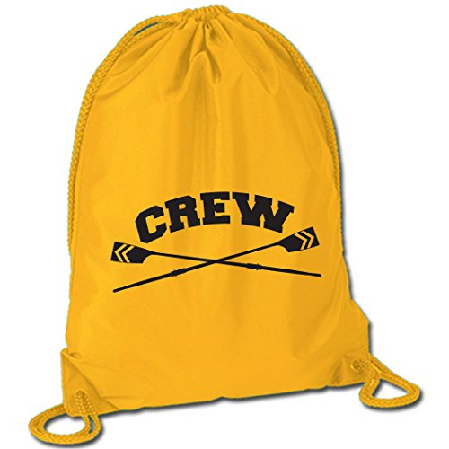 Crew Crossed Oars Sport Pack Cinch Sack | Crew Bags by ChalkTalk SPORTS | Yellow For Sale