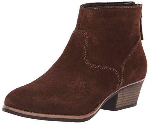 (Skechers Women's Lasso-Caravel-Short Zip-On Ankle Boot, Chocolate, 8.5 M)