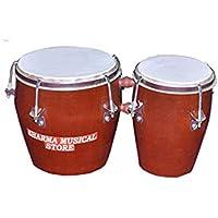 Sharma Musical Store Brown Wooden Bongo