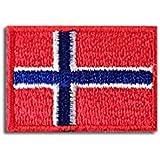 ノルウェー 国旗 アイロン ワッペン (ミニ 約33x24mm)