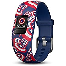 Garmin Vivofit jr. 2 - Adjustable Captain America - Activity Tracker for Kids 010-01909-32