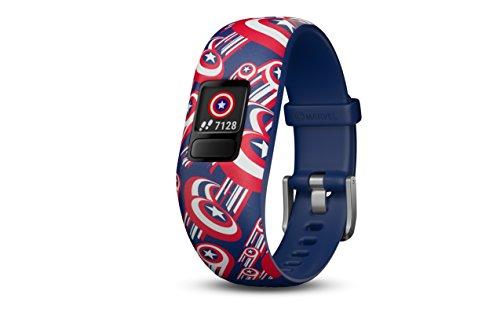 Garmin Vivofit jr. 2 - Adjustable Captain America - Activity Tracker for Kids - Kid Jr