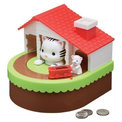 Mouse Mechanical Bank - Leading Edge Novelty Cat & Mouse Animatronic Bank