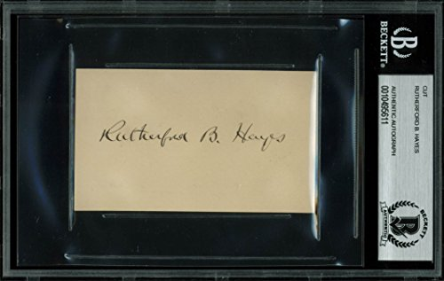 Rutherford B. Hayes Authentic Signed 2.25x3.85 Cut Signature BAS (Rutherford Autograph)