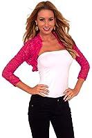 Sheer Floral Ruched 3/4 Sleeve Cropped Open Bolero Shrug Jacket Wrap