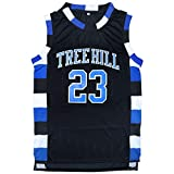 Micjersey One Tree Hill #23 Ravens Basketball Jersey,Nathan Scott Sports Movie Jersey S-XXXL (Black, XXL)