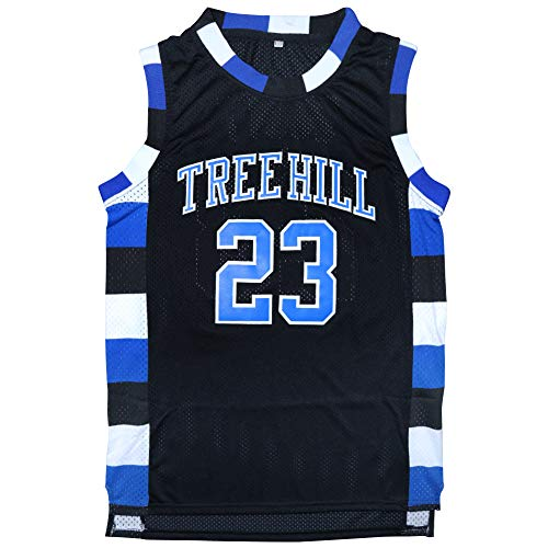 Micjersey One Tree Hill #23 Ravens Basketball Jersey,Nathan Scott Sports Movie Jersey S-XXXL (Black, XXL) (Tree Hill Ravens Jersey)