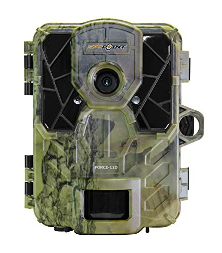 SPYPOINT FORCE-11D Ultra Compact Trail Camera 11MP HD Video w/ High Power LEDs, Blur Reduction & Infrared Boost Technology, 2 Viewing Screen, 0.07s Trigger Speed, 80 Detection & 100 Flash Range