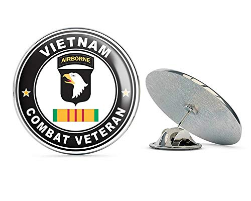 (US Army 101st Airborne Division Vietnam Combat Veteran Metal 0.75