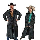 Southwestern Equine American Cowboy Saddle Slicker Rain Coat Duster - 100% Waterproof Full Length Unisex
