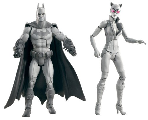 Batman Legacy Arkham City Batman and Catwoman Collector Figure 2-Pack (Black and White Deco) (Catwoman Arkham City)