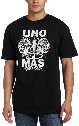 (Quiksilver Men's Uno Mas Slim Fit Short Sleeve T-Shirt, Black, Large)