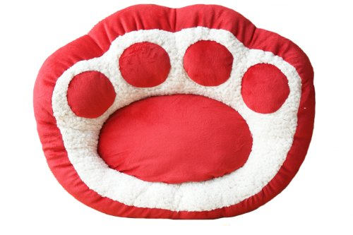 Red Paw Dog Bed Ultra-soft Suede Pet Bedding, Medium 20 Inch By 23 Inch