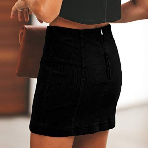 Lavany  Womens Stretchy Pencil Skirt Bodycon Back Zipper Business Mini Skirt for Girl Black by Lavany  (Image #2)