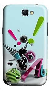 3D Abstract Art PC Case and Cover for Samsung Galaxy Note 2/ Note II/ N7100