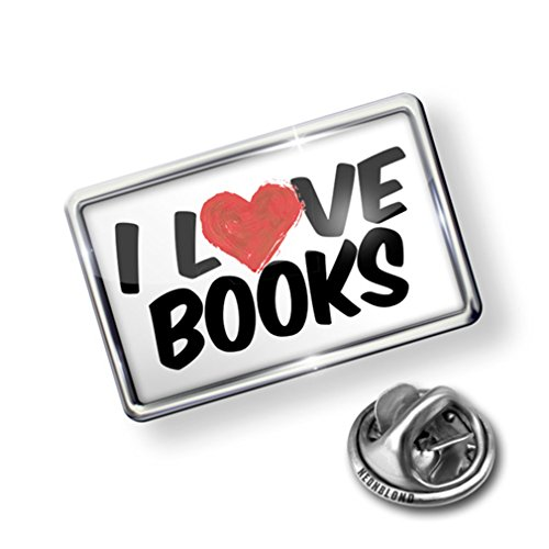 hot sell Pin I Love Books - Lapel Badge - NEONBLOND