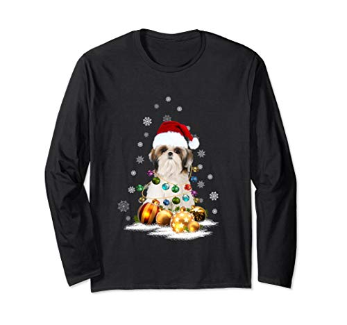 (Shih Tzu Christmas Long Sleeve T-Shirt Dog)