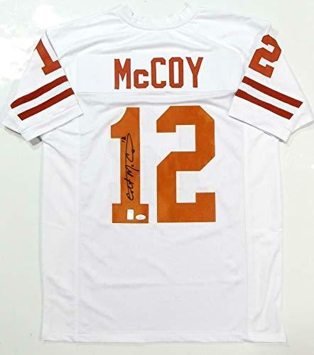 (Autographed Colt McCoy Jersey - White College Style Holo *1 - JSA Certified - Autographed NFL Jerseys)