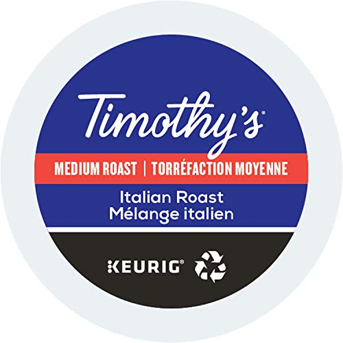 Timothy's, Italian Roast, Single-Serve Keurig K-Cup Pods, Medium Roast Coffee, 48 Count (2 Boxes of 24 Pods) (Cups Coffee K Timothys)