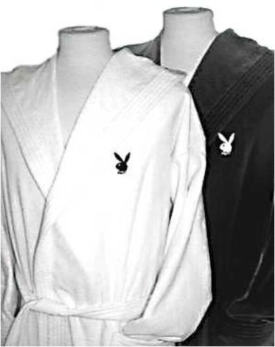 Trendimport 100204 - Bata, diseño de Playboy, talla S, capucha color blanco