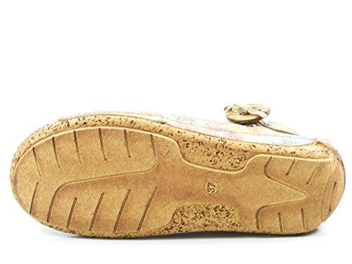 Schuhe Damen Sandalen 32029 Gemini Sandaletten Keil Beige 19 tqXEdwxR