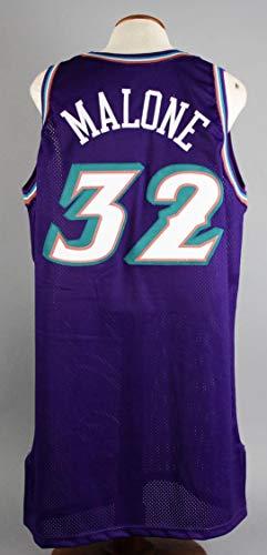 (1999-00 Karl Malone Game-Worn Jersey Jazz - COA 100% Team - NBA Game Used Jerseys)