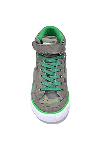 DrunknMunky Sneakers Chaussures Enfant Vert Camouflage Boston Camu