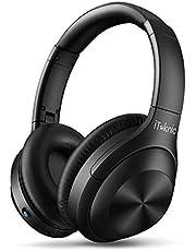 iTeknic Auriculares de Diadema Bluetooth 5.0 Inalámbrico Reducción el Ruido con Micrófono 15 Hrs Reproducción de Música Ligera para Hogar Viajar