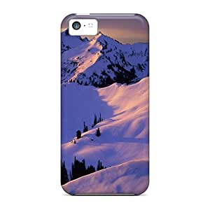 Ultra Slim Fit Hard CaroleSignorile Cases Covers Specially Made For Iphone 5c- Glowing Mountain