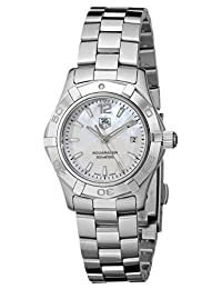 TAG Heuer Women's WAF1414.BA0823 Aquaracer Stainless Steel Mother-of-Pearl Dial Watch