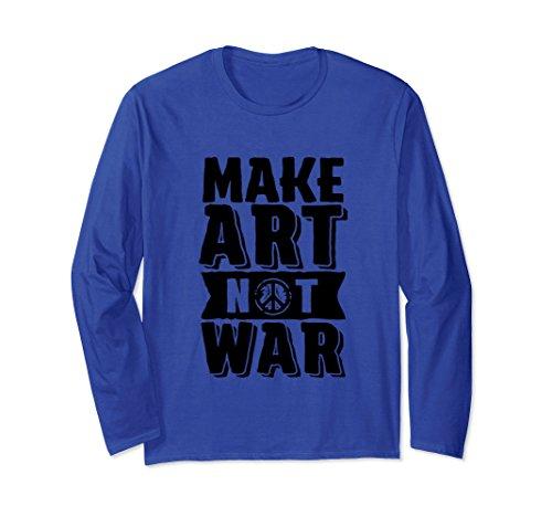 Peace Not War Vintage T-shirt (Unisex Make Art Not War T-shirt - Peace Lover Student Teacher Small Royal Blue)