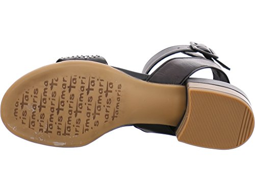 Tamaris 1-1-28200-28 - Sandalias de vestir de Piel Lisa para mujer negro