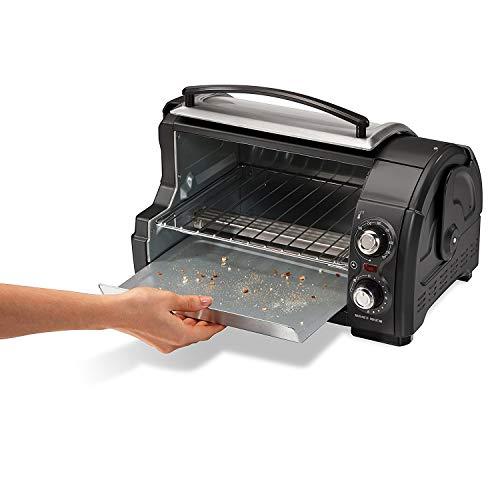 Hamilton Beach Easy Reach Toaster Oven Pizza Maker Electric (Black & Silver Best Value) by Hamilton Beach (Image #1)