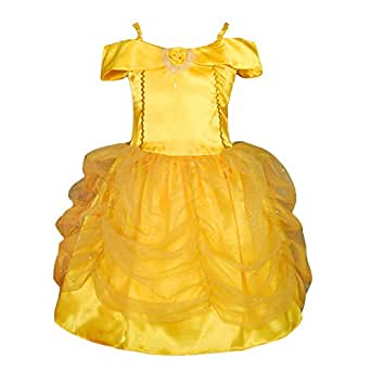 Dressy Daisy Baby-Girls' Belle Princess Costume Party Fancy Dresses Up Size 18-24 Months Gold