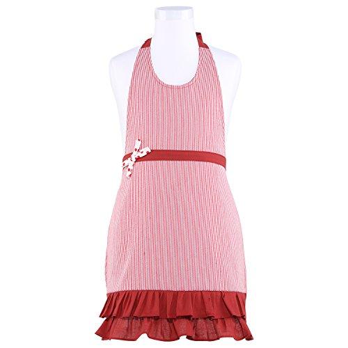 NEOVIVA Cute Dress Apron for Kid Girls in Play Kitchen, Styl