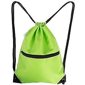 HOLYLUCK Men & Women Sport Gym Sack Drawstring Backpack Bag - Green