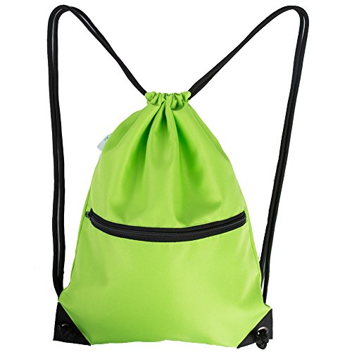 HOLYLUCK Men & Women Sport Gym Sack Drawstring Backpack Bag - Green