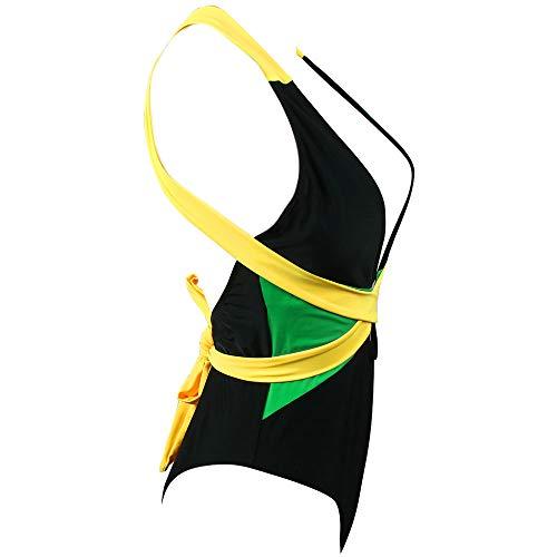 661001a2889 VOARYISA Women's One Piece Caribbean Flag Rasta Body Shaping Monokini  Swimsuit Swimwear Bathing Suit