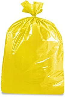 product image for USA-Made Colorful Trash Bags in Variety of Sizes and Colors (10, YELLOW 50 GALLONS)