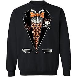 Vampire Tuxedo Crewneck Halloween Sweater